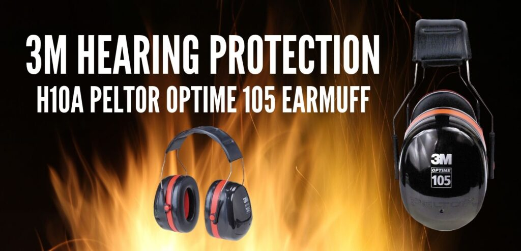 3M Hearing Protection H10A Peltor Optime 105 Earmuff